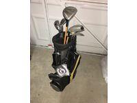 Junior set of US Kids Golf clubs. Includes bag