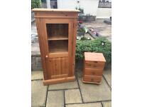 Pine display unit and draws