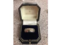 Gents Silver with Gold Celtic design ring