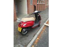 50CC Moped Sym Fiddle 2 6500 miles Red starts first time, good condition a few minor scratches