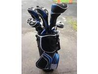 Left handed golf clubs full set bag etc.