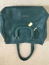 TED BAKER Green Leather Large Tote Bag