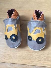 Brand new leather padded baby shoes