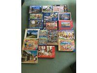 Various 1000 pc jigsaw puzzles