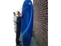 7ft Foam Ofsprey surf board.
