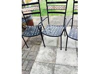 Black metal garden chair 4