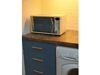 Almost new Retro style Russell Hobbs microwave