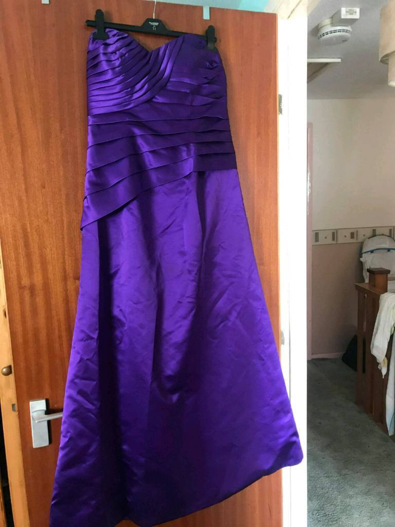 Cadbury purple bridesmaid dress size 14 | in Weymouth, Dorset | Gumtree