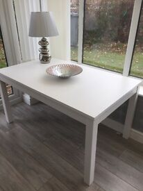 White IKEA Dining table - extendable