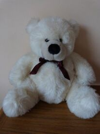 6 Teddy bears for sale all in permanent sitting position varying heights - prefer to sell in one lot