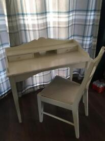 Shabby chic desk and chair (from Next)