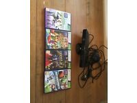 Xbox 360 Kinect plus 4 games