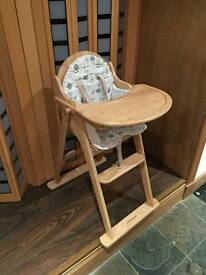 Mothercare High Chair With Cushion Available for Quick Sale