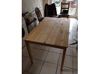 Ikea INGO pine table