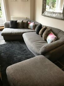 Barker and stonehouse sofa in grey fabric in very good condition