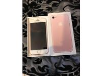 IPhone 7 128gb rose gold o2 giffgaff Tesco boxed