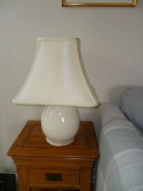 2 Ceramic Table lamps extremely good condition complete with silk shades