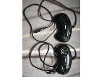 2x genuine Sega mega drive controllers