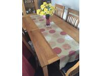Extendable Oak Table and Chairs