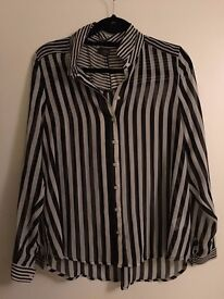 Black and white Striped Sheer Shirt - Urban Outfitters / Sparkle and Fade