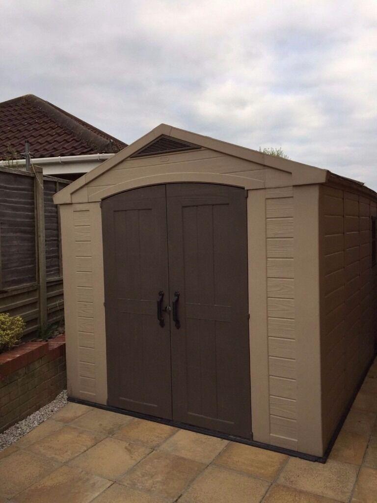 keter fortis 8x11 plastic storage garden shed