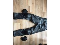 Belstaff leather trousers, size 32 knee armour and knee sliders