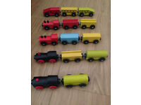 59 piece train set wooden railway