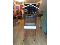 LARGE BIRD CAGE WITH STAND-NEAR NEW
