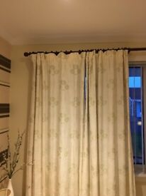 Rosewood curtain rail