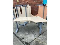Corner desks approx 160cm x 120cm