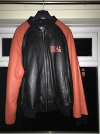 Harley Davidson leather bomber jacket (size XXL)