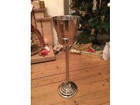 Stainless steel wine bucket.