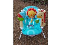 Fisher Price Baby Bouncer Blue Jungle Theme Musical