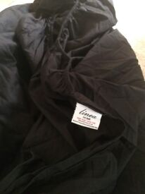 Super king size black House of Fraser Linea fitted cotton sheet