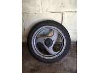 Nrg rear wheel,gilera typhoon- good tyre