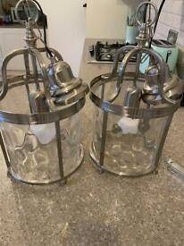 Traditional ceiling lights, chrome x2