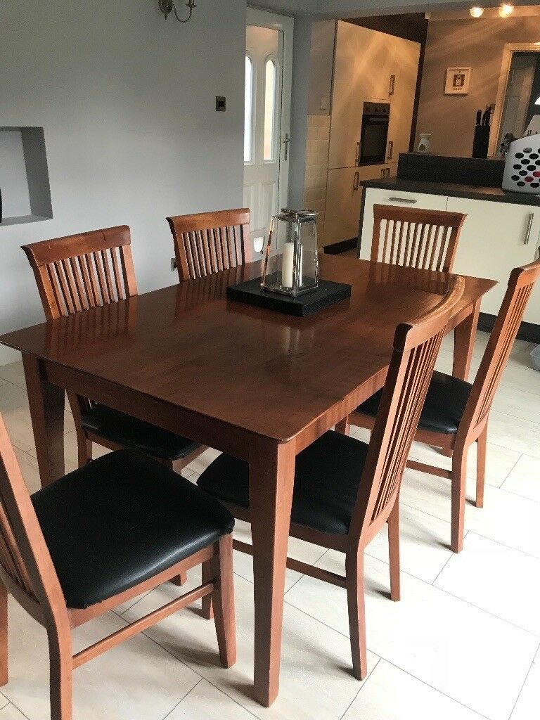 Dark Dining Table With 6 Chairs