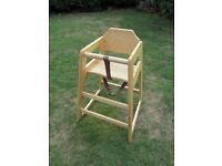 Tablecraft Child's beechwood high chair.