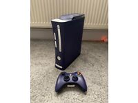 XBOX 360 Elite Custom Purple and white