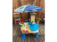 Step2 High Seas Adventure Sand Toys and Water Table with Parasol
