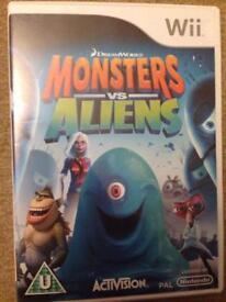 Nintendo wii monsters vs aliens