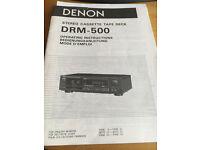 DENON STEREO CASETTE TAPE DECK DRM-500