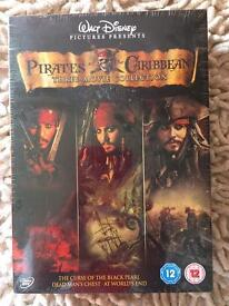 Pirates of the Caribbean 1,2,3 boxset. New