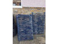 Bundle of vintage cast iron radiators reclaimed