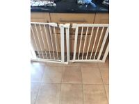 2 mothercare stair gates for sale