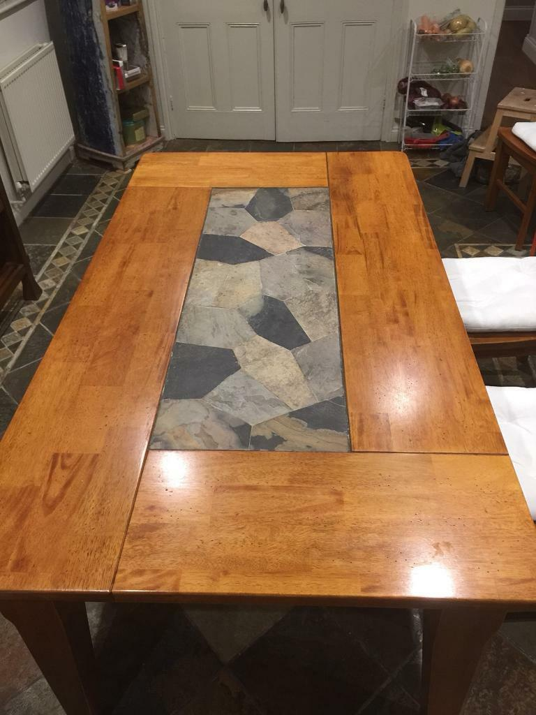 Reduced Indonesian Dining Table And 6 Chairs In Weybridge