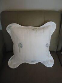White Floral Cushion
