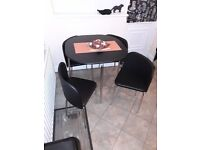 Oval shape table and 4 chairs