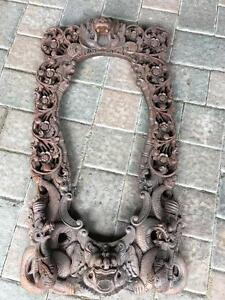 Hand Carved Mirror Frame from Bali, Indonesia