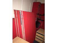 Red Floor Standing Screens